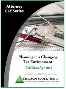Icon of CLE-Book Planning in a Changing Tax Environment