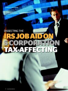 Icon of Dissecting the IRS Job Aid S Corporation Tax-Affecting