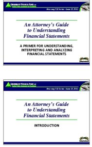 Icon of CLE-Slides Attorney's Guide to Financial Statements