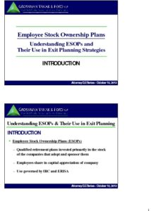 Icon of CLE-Slides Using ESOPs for Exit Planning