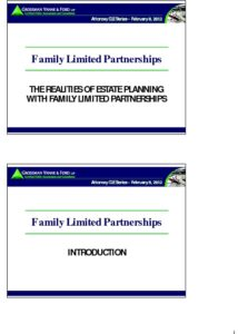 Icon of CLE-Slides FLPs for Estate Planning