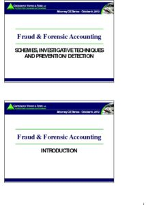 Icon of CLE-Slides Fraud & Forensic Accounting