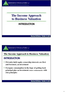 Icon of CLE-Slides Income Approach to Valuation