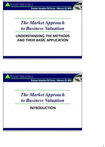 Icon of CLE-Slides Market Approach to Valuation