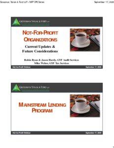 Icon of Not-for-Profit Organizations: Updates & Future Considerations (slides)