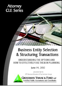 Icon of CLE-Book Business Entity Selection & Structuring Transactions