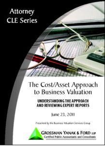 Icon of CLE-Book Cost/Asset Approach to Valuation