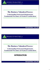 Icon of CLE-Slides Business Valuation Process