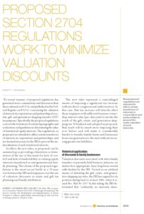 Icon of Proposed Sec 2704 Regs Work to Minimize Valuation Discounts - PTS Dec-2015