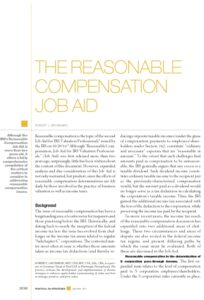 Icon of Resonable Compensation Job Aid
