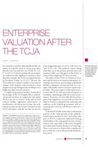 Icon of Enterprise Valuation After the TCJA