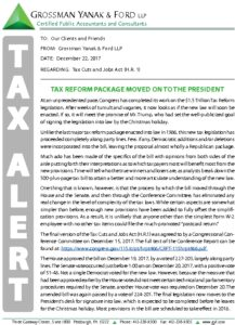 Icon of Tax Alert 12-20-17 Tax Reform