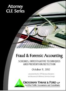 Icon of CLE-Book Fraud & Forensic Accounting