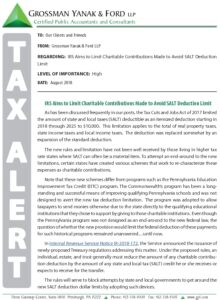 Icon of Tax Alert 8-18 Charitable Contributions