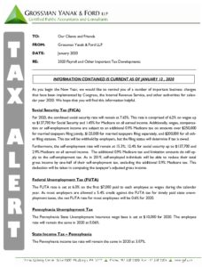 Icon of Tax Alert 1-20 Payroll Update