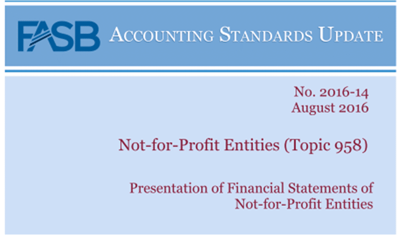 FASB, ASU, NFP, not-for-profit entities